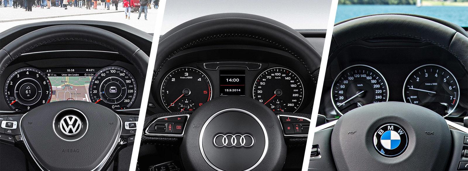 Audi Q3 vs VW Tiguan vs BMW X1 dials and gauges dashboard