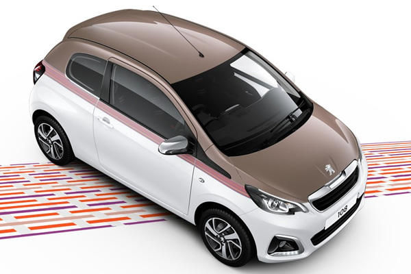 peugeot 108 alkinite and diamong white