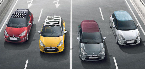 Citroen DS3 colours