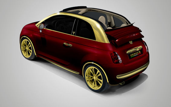 Fiat 500C Gold Red Back
