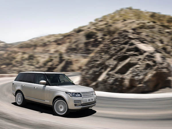New range rover silver side