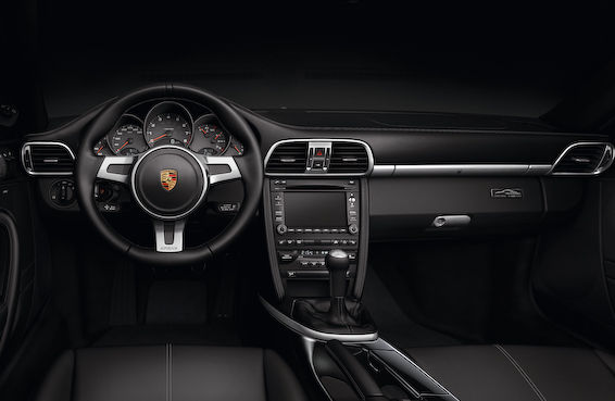 911 Black Edition interior