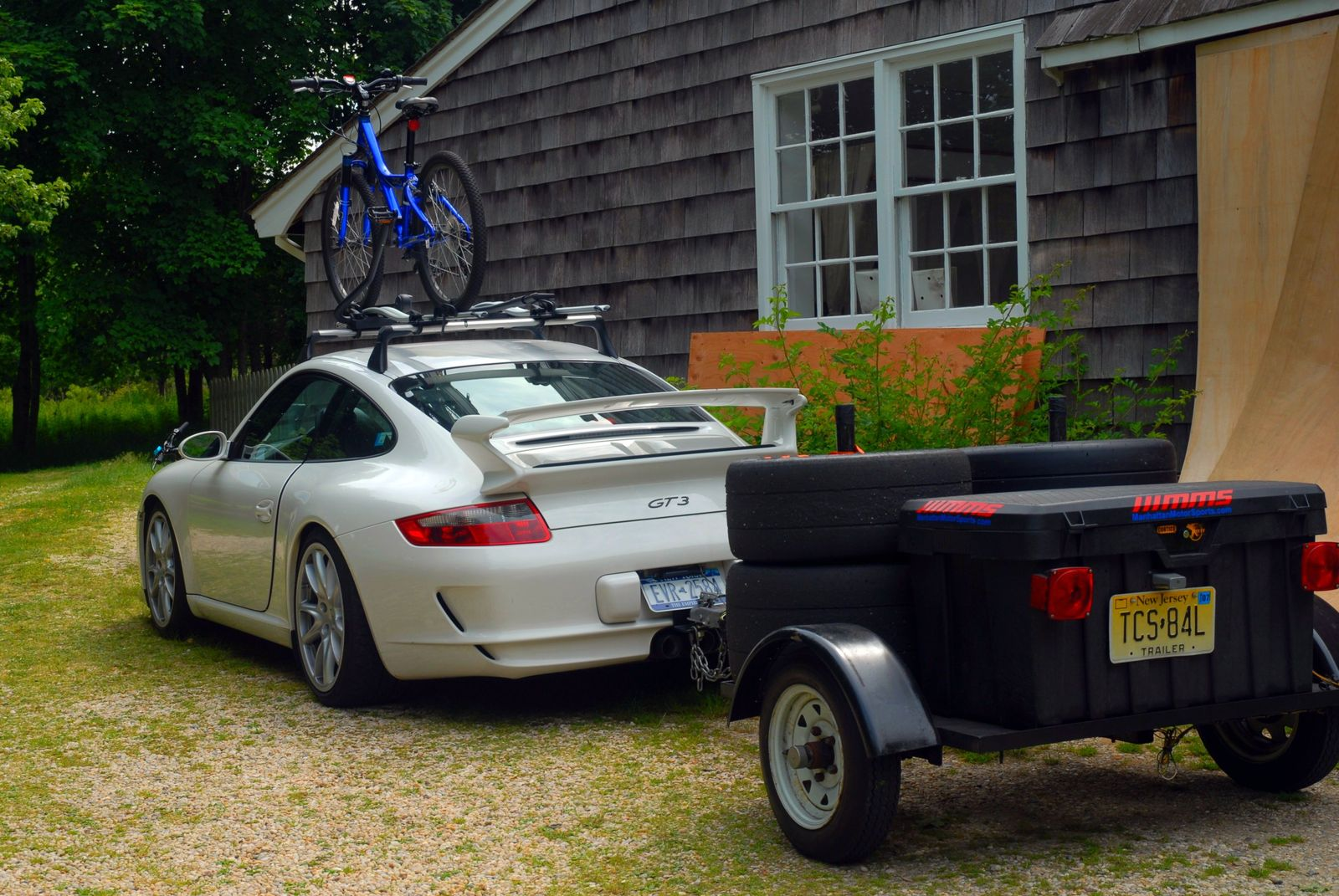Porsche trailer bike rack