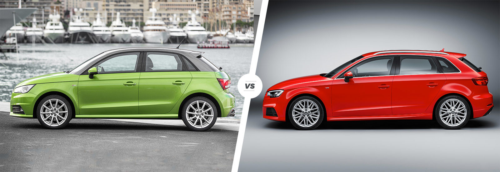 Audi A Vs A Sidebyside Comparison Carwow - Audi a3 hatchback