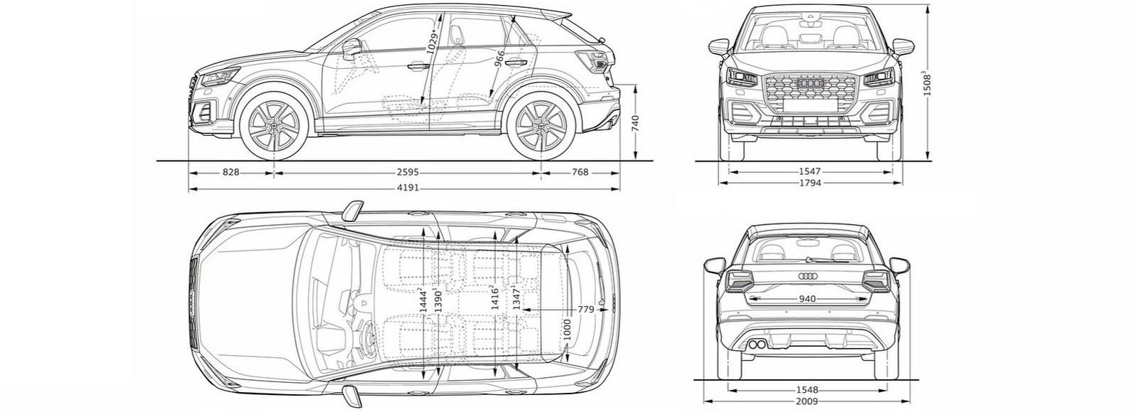 vw tiguan interior dimensions