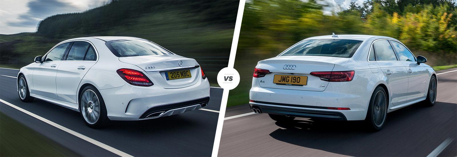 Mercedes C Class vs Audi A4 parison