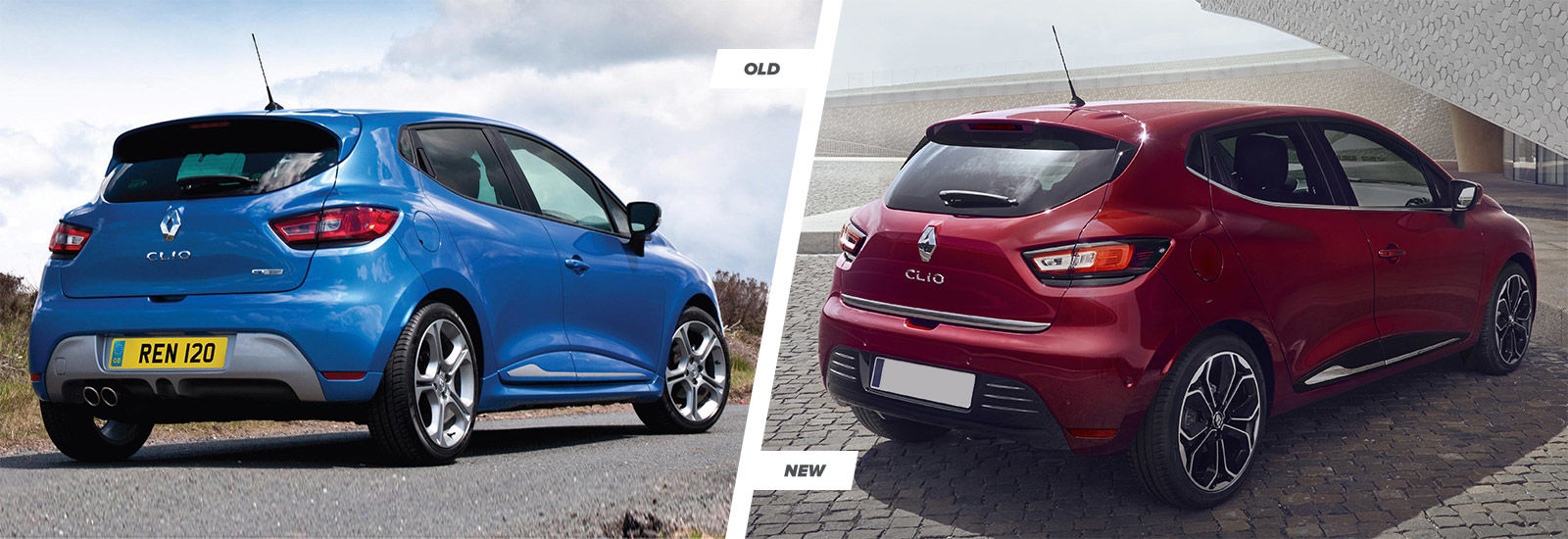 renault clio facelift old vs new compared carwow. Black Bedroom Furniture Sets. Home Design Ideas