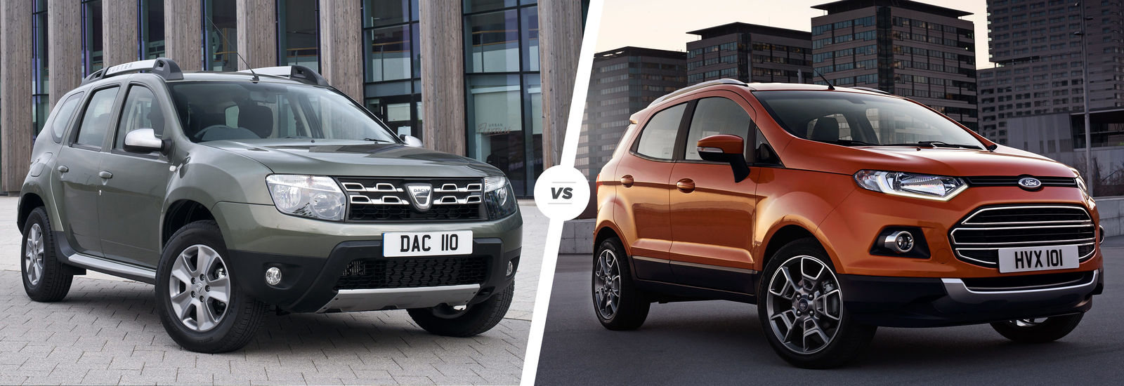 dacia duster vs ford ecosport suv comparison carwow. Black Bedroom Furniture Sets. Home Design Ideas