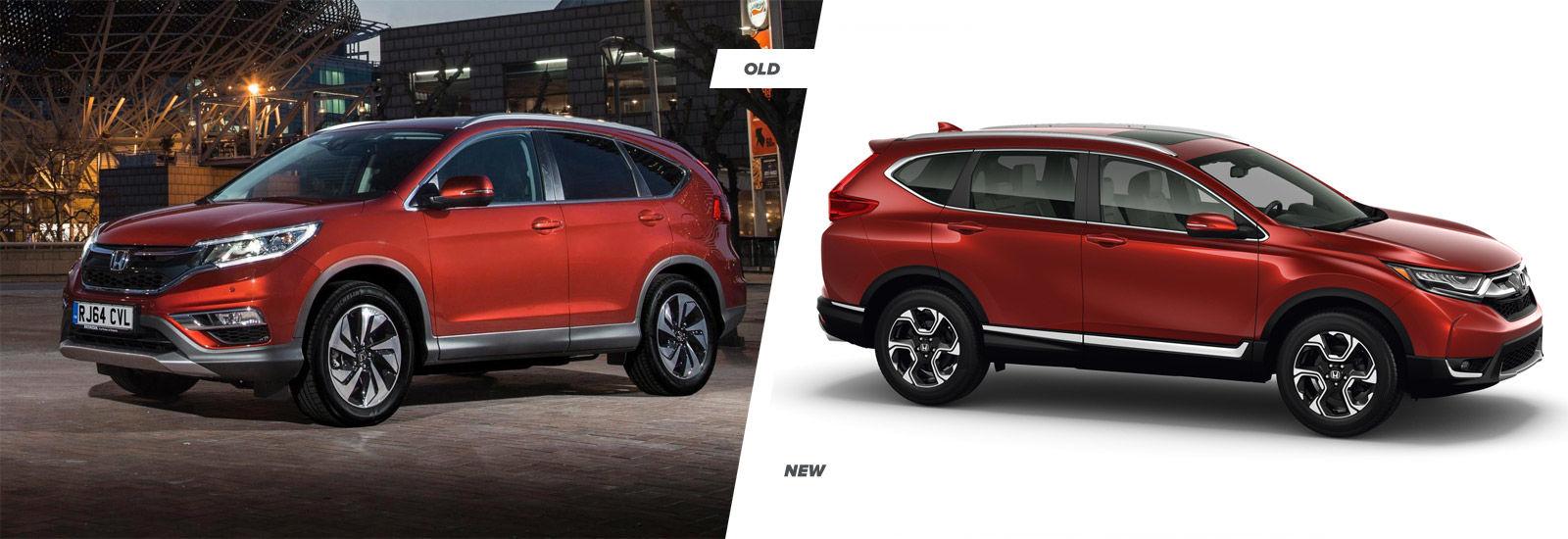 2017 Honda CR-V old vs new compared   carwow