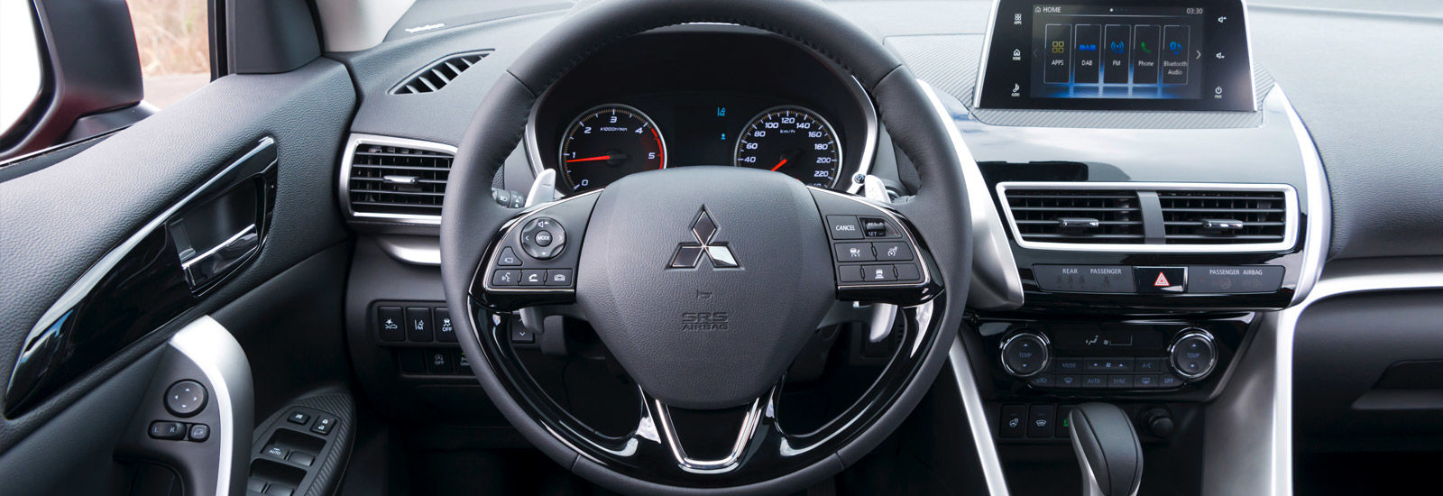 2018 mitsubishi outlander interior. contemporary 2018 inside the cabin features a more paredback design than either  outlander or asx and boasts new infotainment system mounted above slick centre  with 2018 mitsubishi outlander interior
