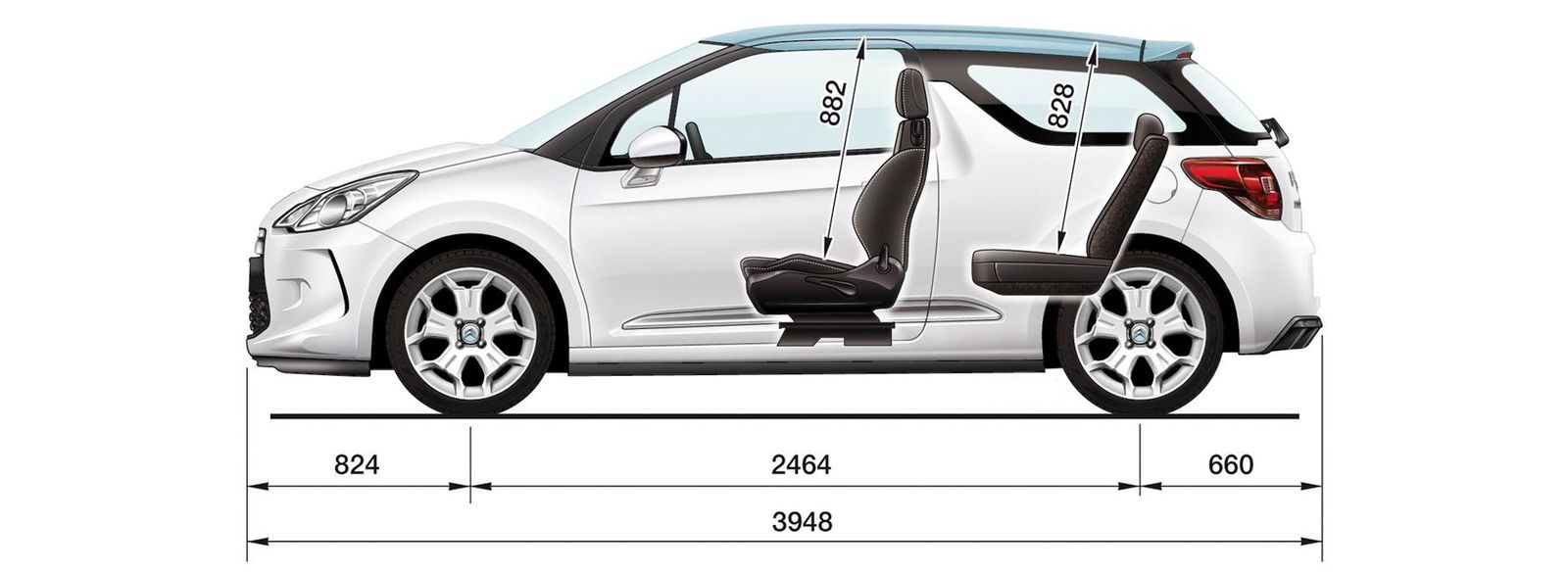 Citroen Ds3 Sizes And Dimensions Guide Carwow