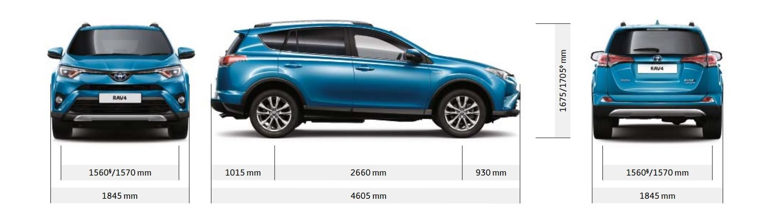 Kuga Dimensions >> Toyota Rav4 And Hybrid Sizes And Dimensions Guide Carwow