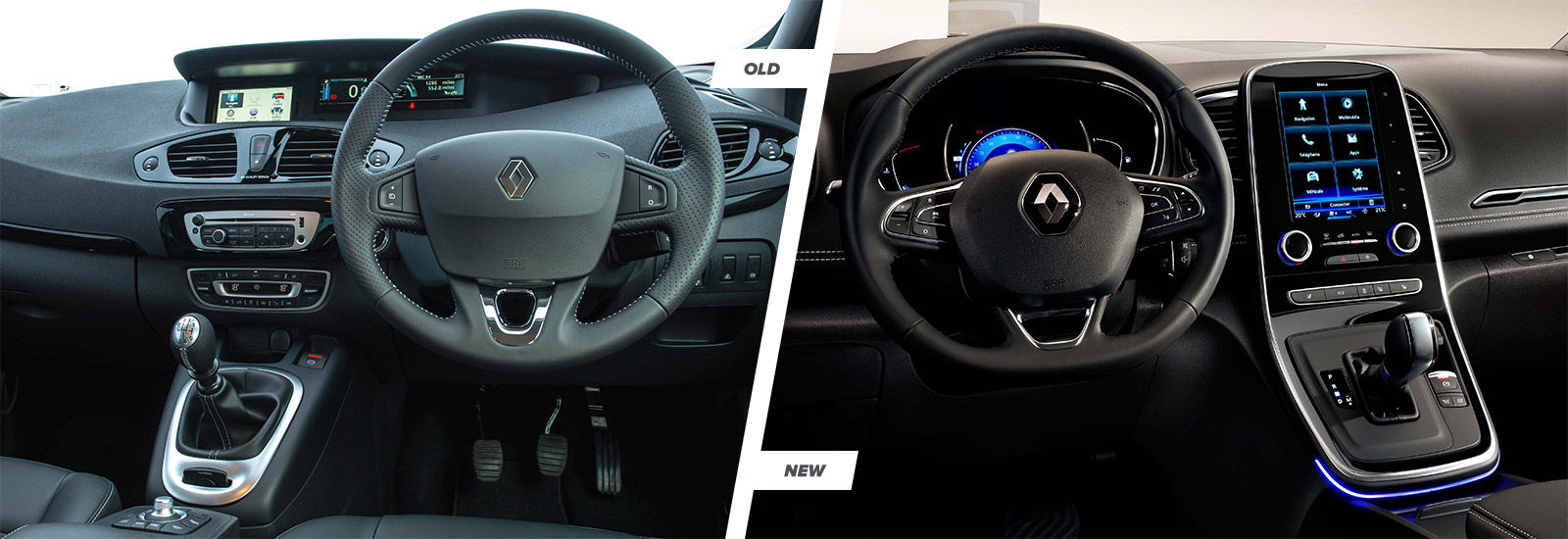 2016 renault scenic and grand scenic old vs new carwow for Interior renault scenic