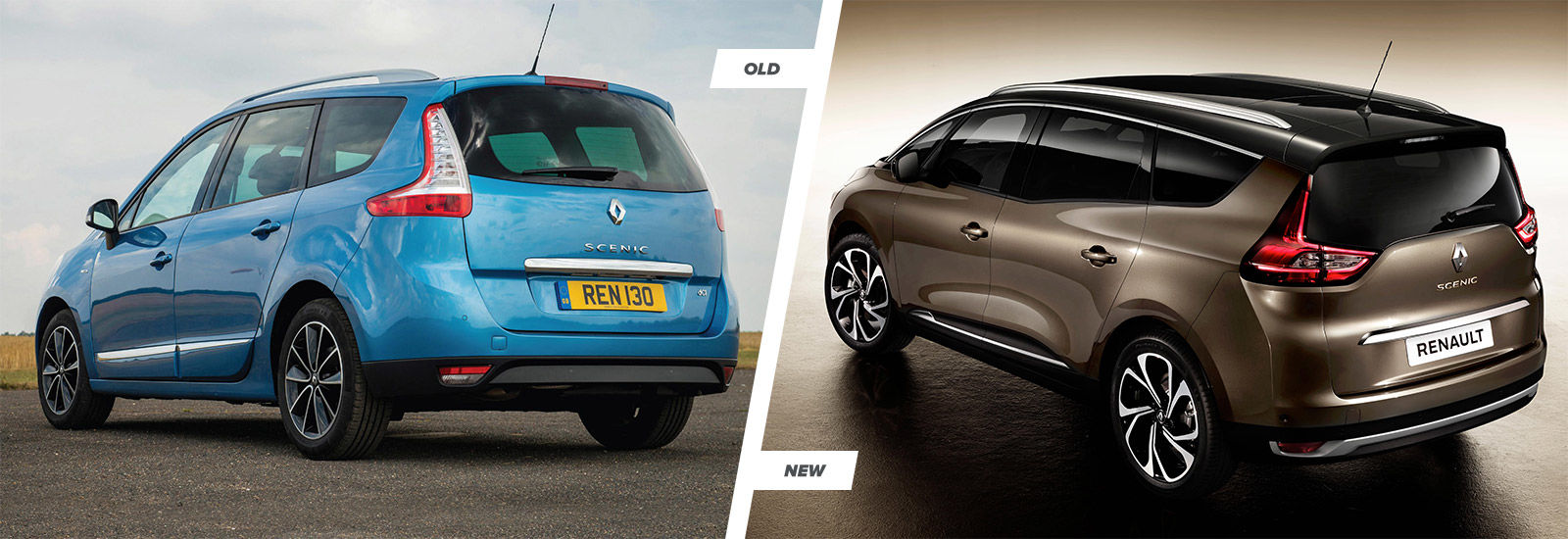 2016 renault scenic and grand scenic old vs new carwow. Black Bedroom Furniture Sets. Home Design Ideas