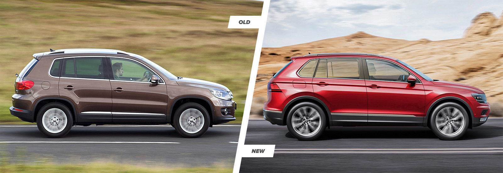 Volkswagen tiguan old vs new interior