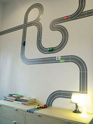 race track kids decal