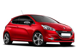 Peugeot 208 gti red front 0